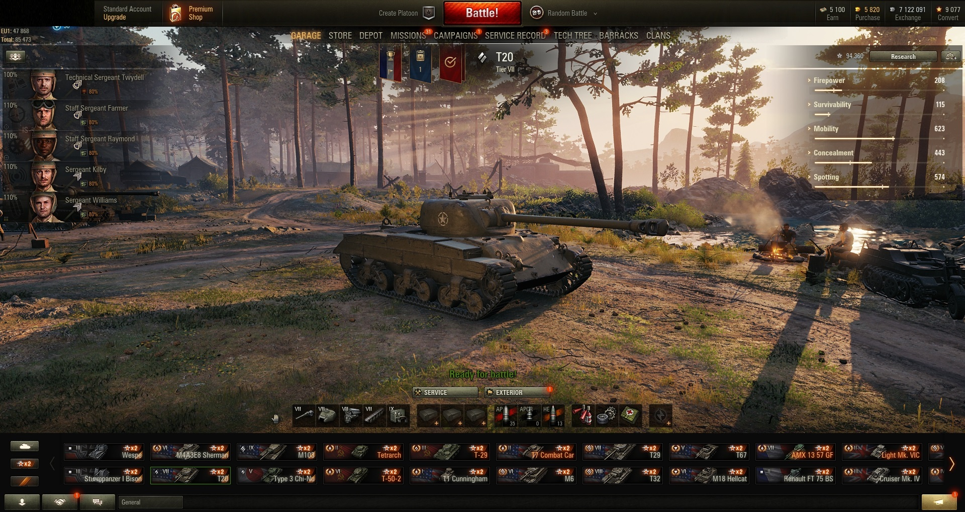 World of Tanks PC EU-Tier IX 1 | VIII 1 | VII 3 |Prem  Tank
